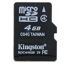 金士顿(Kingston)4G Class4 TF(micro SD)存储卡